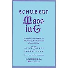 G. Schirmer Mass in G (SATB) SATB composed by Franz Schubert