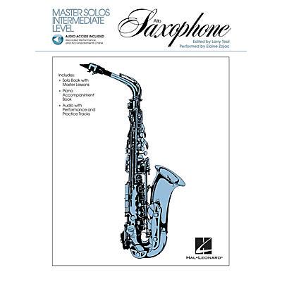 Hal Leonard Master Solos Intermediate Level - Alto Sax (Book/Online Audio) Master Solos Series Book Audio Online