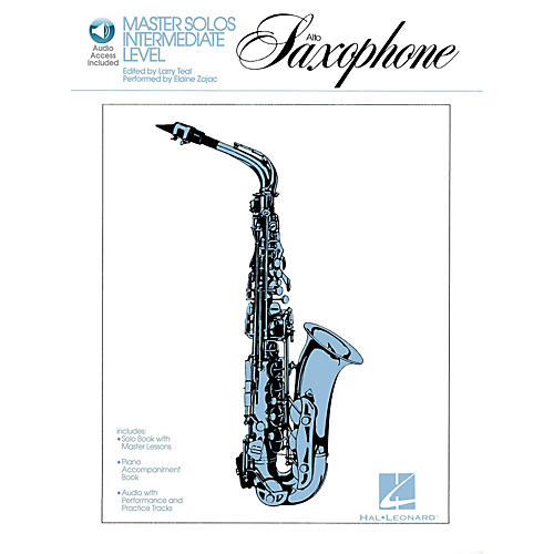 Hal Leonard Master Solos Intermediate Level - Alto Sax (Book/Online Audio) Master Solos Series Book Audio Online