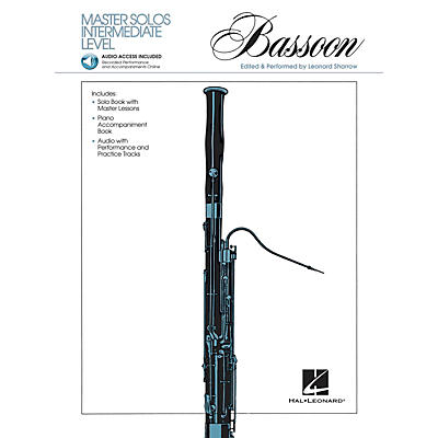 Hal Leonard Master Solos Intermediate Level - Bassoon (Book/CD Pack) Master Solos Series Softcover with CD