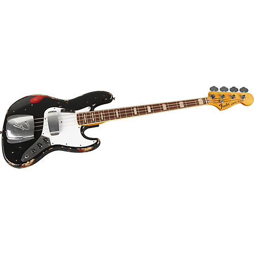 Fender Custom Shop Masterbuilt 1970s Jazz Bass Heavy Relic Black over Candy Apple Red