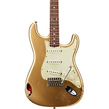 Masterbuilt Dennis Galuszka '60s Relic Stratocaster Brazilian Rosewood Neck Electric Guitar Aztec Gold over 3-Color Sunburst
