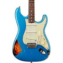 Masterbuilt Dennis Galuszka '60s Relic Stratocaster Brazilian Rosewood Neck Electric Guitar Lake Placid Blue over 3-Color Sunburst