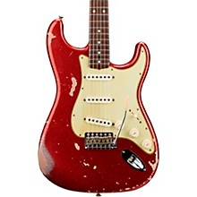Masterbuilt Dennis Galuszka '60s Relic Stratocaster Brazilian Rosewood Neck Electric Guitar Red Sparkle over Aztec Gold