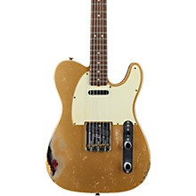 Masterbuilt Dennis Galuszka '60s Telecaster Relic Brazilian Rosewood Neck Electric Guitar Aztec Gold over 3-Color Sunburst
