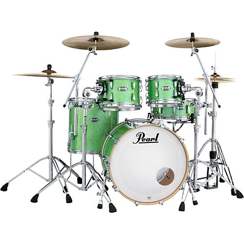 Pearl Masters Maple Complete 4-Piece Shell Pack Absinthe Sparkle