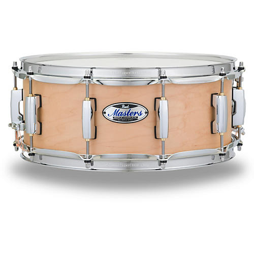 Pearl Masters Maple Complete Snare Drum 14 x 5.5 in. Matte Natural