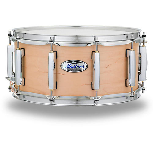 open box pearl masters maple complete snare drum 14 x 6 5 in matte natural musician 39 s friend. Black Bedroom Furniture Sets. Home Design Ideas