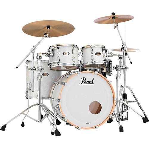 Pearl Masters Maple/Gum 4-Piece Shell Pack Matte White Marine Pearl