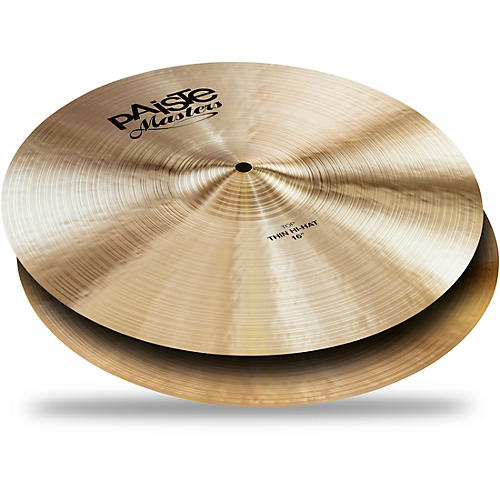 Paiste Masters Thin Hi-Hat Cymbals 16 in. Top