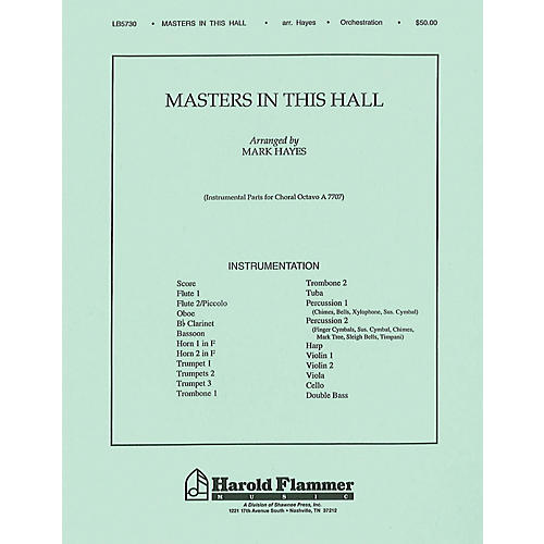 Shawnee Press Masters in This Hall Score & Parts arranged by Mark Hayes