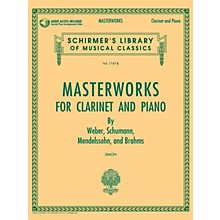 G. Schirmer Masterworks for Clarinet and Piano Woodwind Solo Softcover Audio Online Edited by Eric Simon
