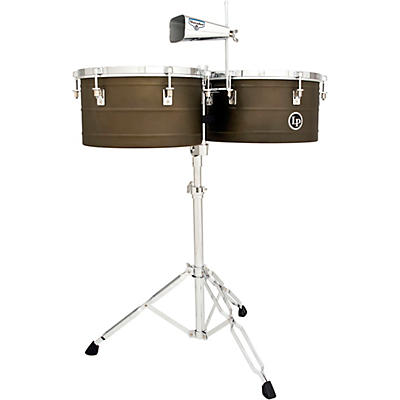 """LP Matador M258 14"""" and 15"""" Barrio Timbales with Cowbell"""