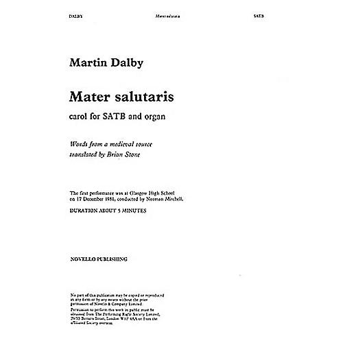 Novello Mater Salutaris SATB Composed by Martin Dalby