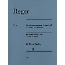 G. Henle Verlag Max Reger - Clarinet Sonata, Op. 107 Henle Music Folios Softcover Composed by Max Reger Edited by Michael Kube