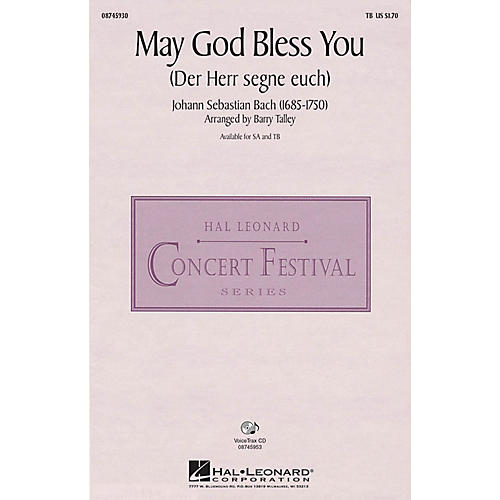 Hal Leonard May God Bless You (Der Herr segne euch) TB arranged by Barry Talley