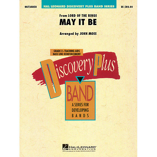 Hal Leonard May It Be (from The Lord of the Rings) - Discovery Plus Concert Band Series Level 2 arranged by John Moss