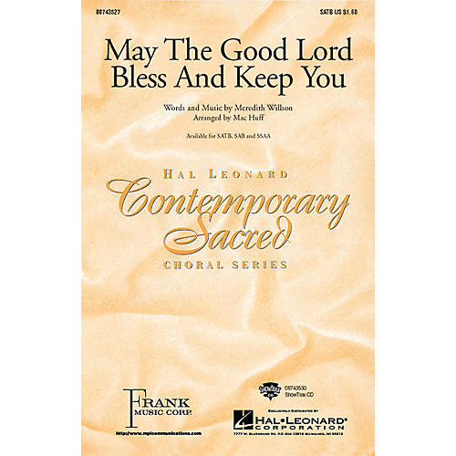Hal Leonard May the Good Lord Bless and Keep You SATB arranged by Mac Huff