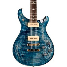 McCarty 594 Soapbar Carved Flame Maple 10-Top Electric Guitar Faded Whale Blue