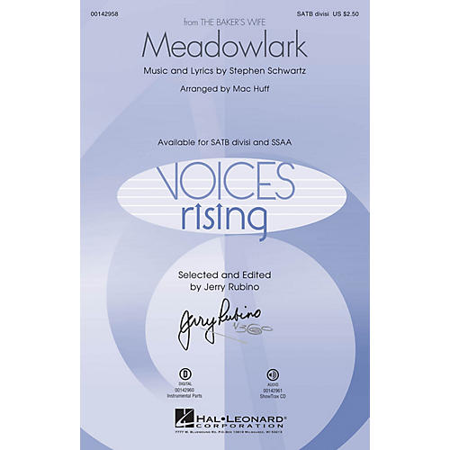 Hal Leonard Meadowlark (from The Baker's Wife) ShowTrax CD Arranged by Mac Huff