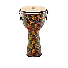 Open Box Meinl Mechanically Tuned Fiberglass Goatskin Head Djembe