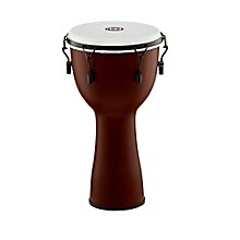 Mechanically Tuned Fiberglass Synthetic Head Djembe Earth Brown 12 in.