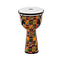 Mechanically Tuned Fiberglass Synthetic Head Djembe Kenyan Quilt 10 in.