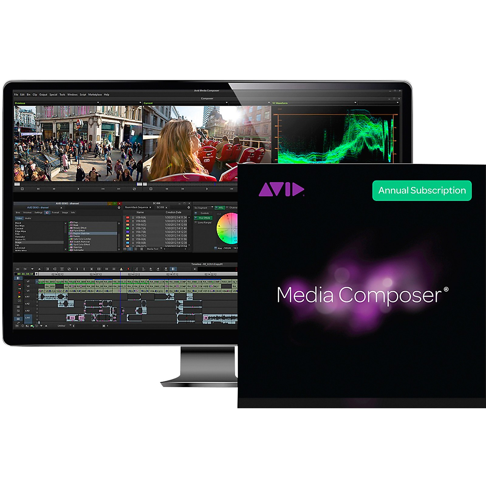 Avid Media Composer 1-Year Subscription (Download)