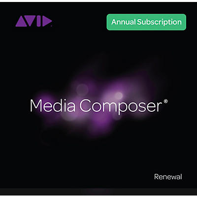 Avid Media Composer 1-Year Subscription Renewal + Updates/Support (Download)