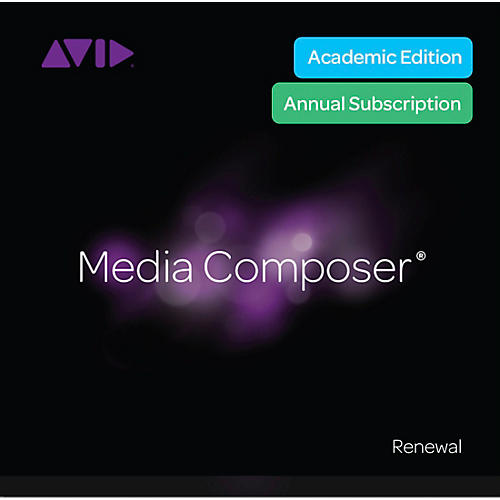 Avid Media Composer Institution and Teacher Subscription Renewal