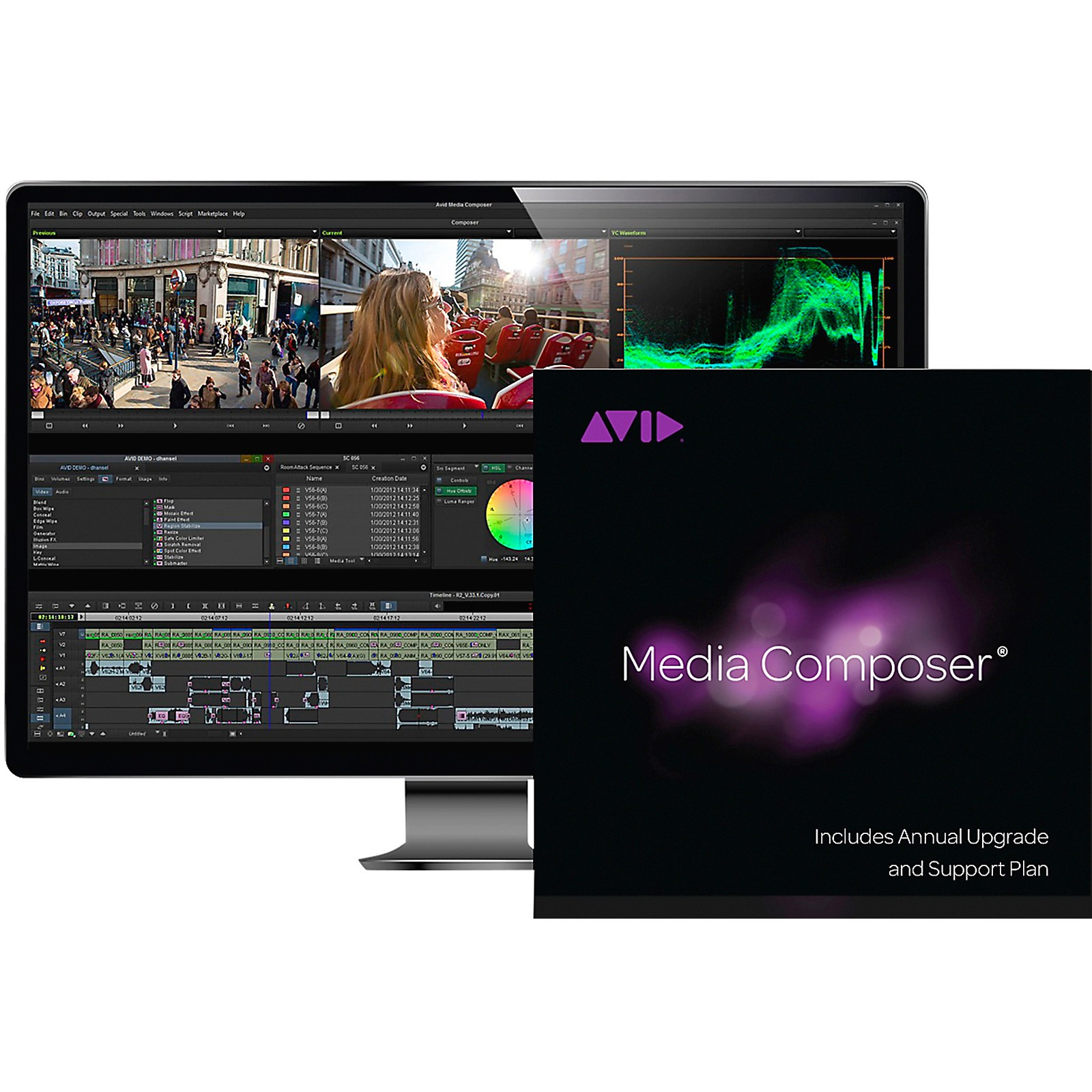 Avid Media Composer NEW Perpetual License with 1-Year of Updates + Support (Download)
