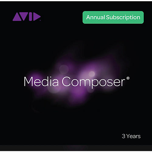 Avid Media Composer Subscription (3 years)