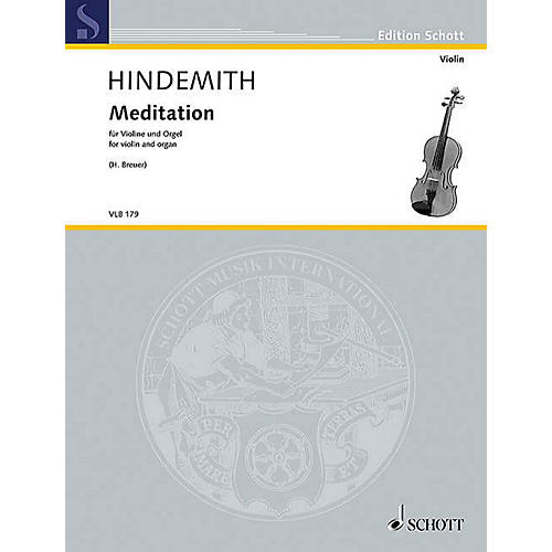 Schott Meditation from Nobilissima Visione String Softcover by Paul Hindemith Arranged by Heribert Breuer