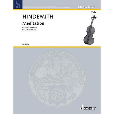 Schott Meditation from Nobilissima Visione (Viola and Piano) Schott Series