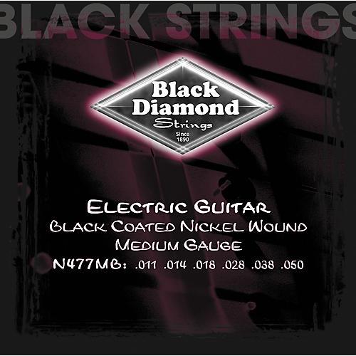Black Diamond Medium Gauge Black Coated Nickel Electric Guitar Strings