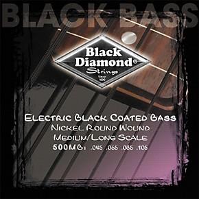 black diamond medium gauge black coated roundwound long scale bass strings musician 39 s friend. Black Bedroom Furniture Sets. Home Design Ideas