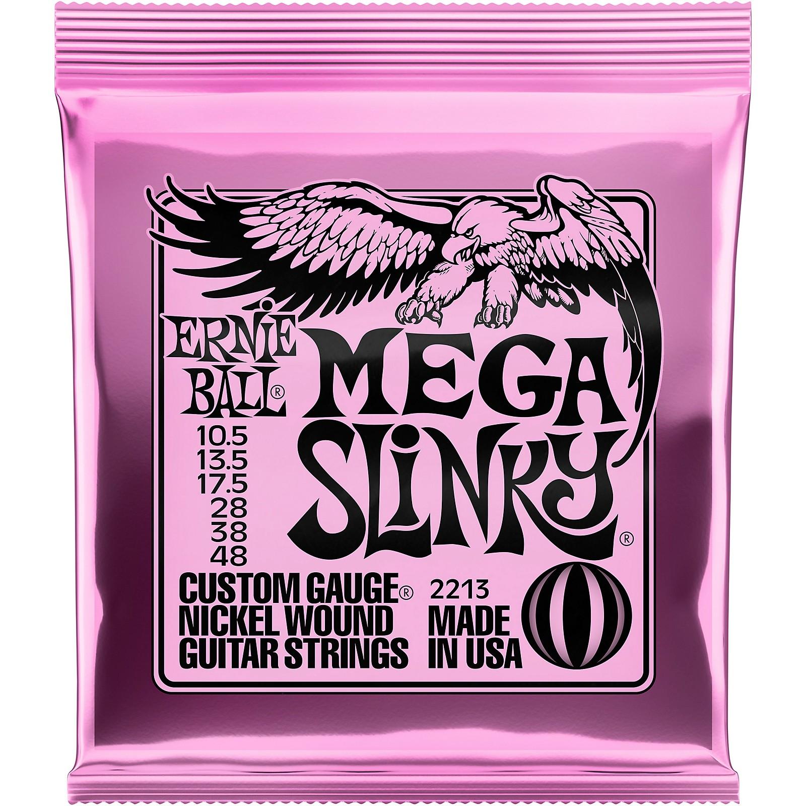 Ernie Ball Mega Slinky Nickel Wound Electric Guitar Strings - Gauge