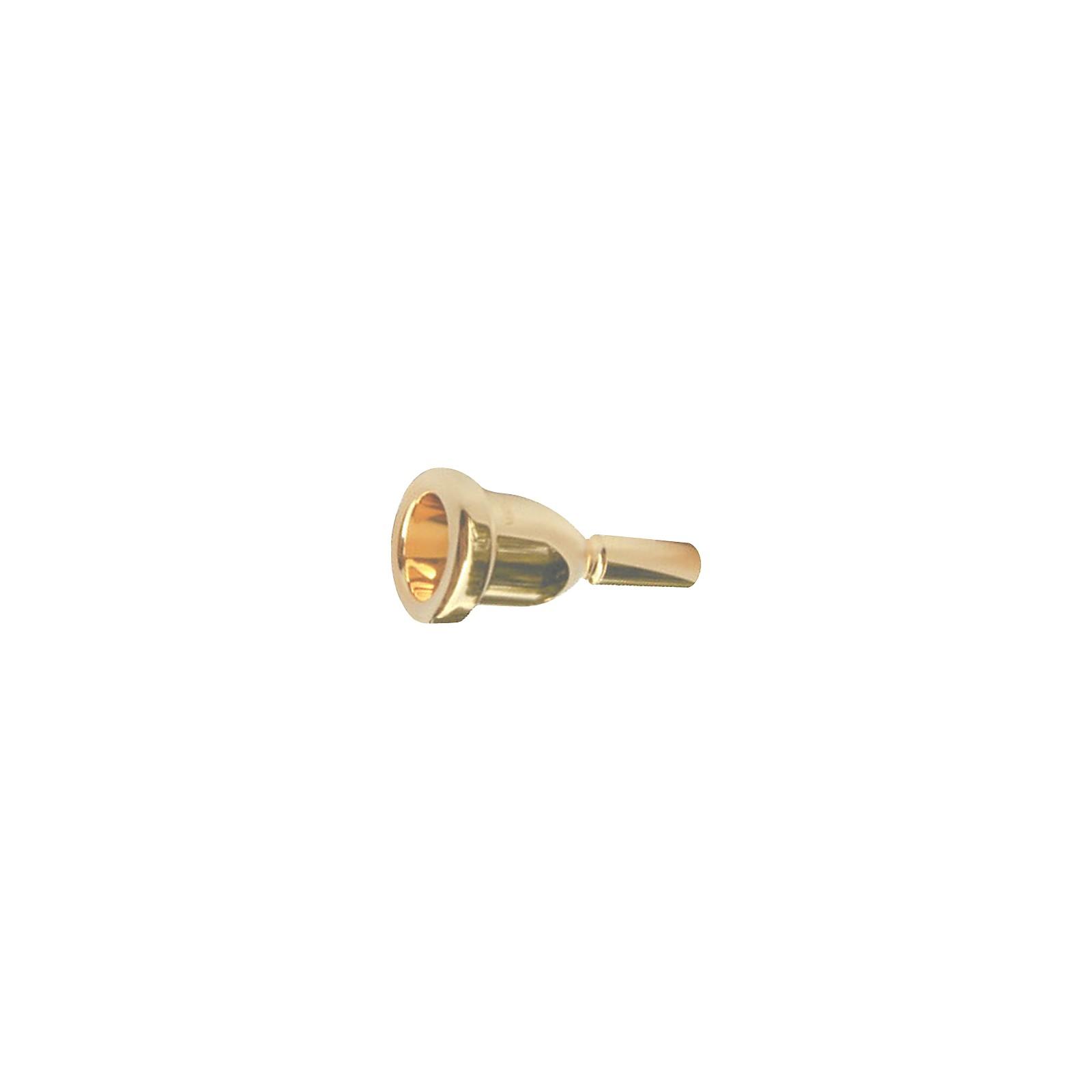 Bach Mega Tone Large Shank Trombone Mouthpiece in Gold