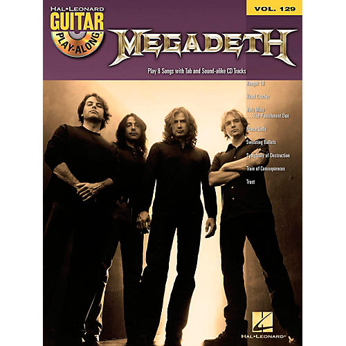 Hal Leonard Megadeth - Guitar Play-Along Volume 129 (Book/CD)
