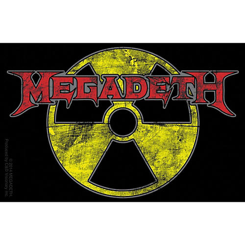 C&D Visionary Megadeth - Radioactive Sticker