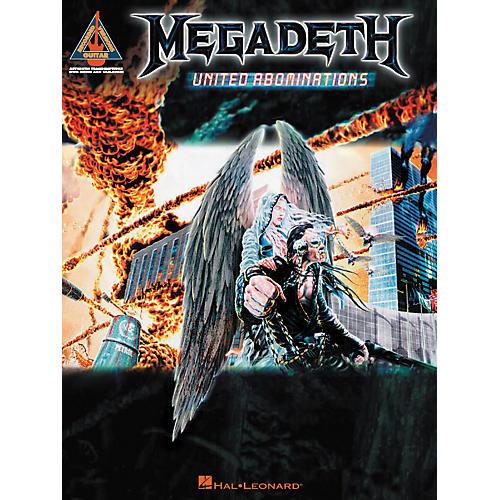 Hal Leonard Megadeth - United Abominations Guitar Tab Songbook