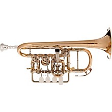 Meister Johannes Rotary Valve Piccolo Trumpet Lacquer Gold Brass Bell