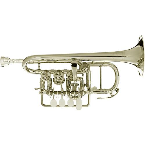 Scherzer Meister Johannes Rotary Valve Piccolo Trumpet Silver plated Gold Brass Bell