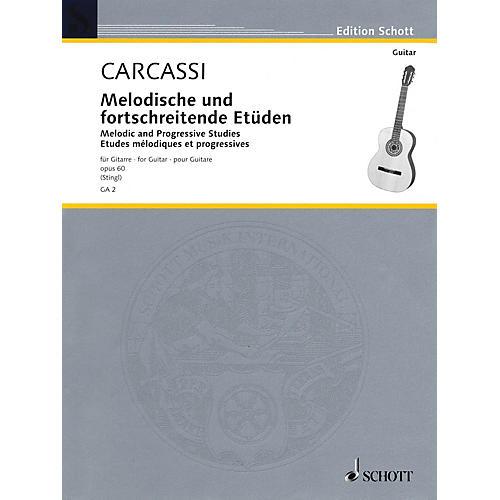 Schott Melodic and Progressive Etudes, Op. 60 (Guitar Solo) Schott Series