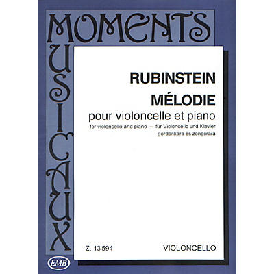 Editio Musica Budapest Melodie, Op. 3 No. 1 (Cello and Piano) EMB Series Composed by Anton Rubinstein