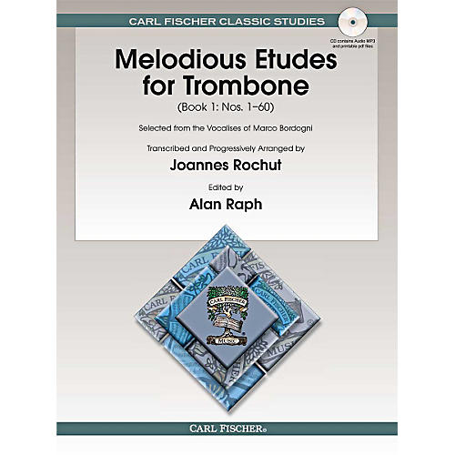 Carl Fischer Melodious Etudes for Trombone (Book/Online Audio) - Joannes Rochut, Book 1 BOOK 1