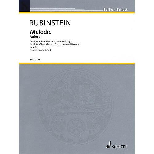 Schott Melody (for Woodwind Quintet) Misc Series by Anton Rubinstein Arranged by Joachim Linckelmann