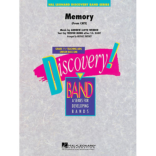 Hal Leonard Memory (from Cats) Concert Band Level 1.5 Arranged by Michael Sweeney