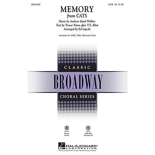 Hal Leonard Memory (from Cats) SSA Arranged by Ed Lojeski