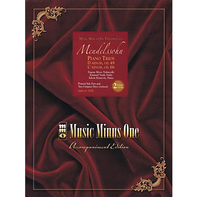 Music Minus One Mendelssohn - Piano Trios: D minor, Op. 49; C mninor, Op. 66 Music Minus One BK/ CD by Mendelssohn